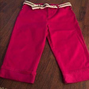 Gloria Vanderbilt pink capris; 16P